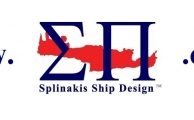 SPLINAKIS SHIP DESIGN LOGO White